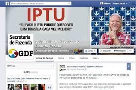 SEFDF: Impressão do IPTU disponível pelo Facebook