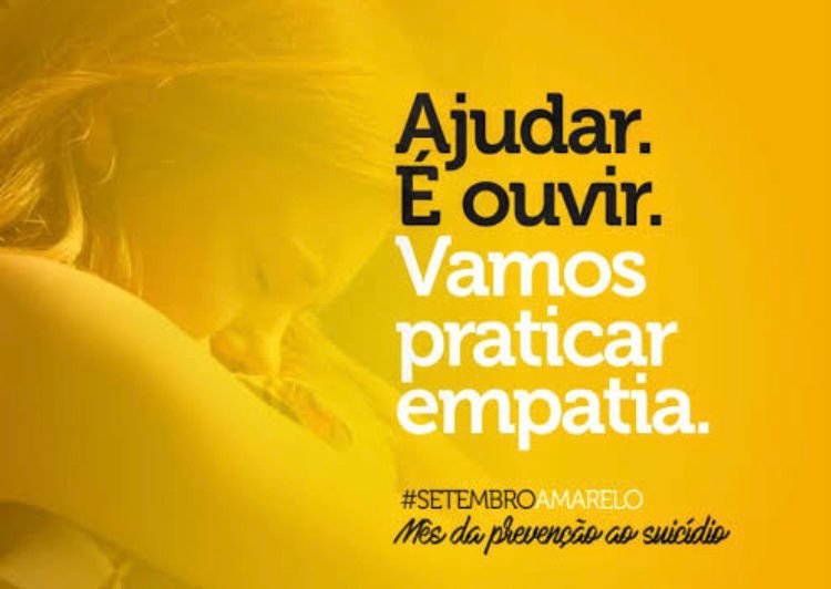 Você sabia que Setembro Amarelo é o mês dedicado a prevenção ao suicídio?